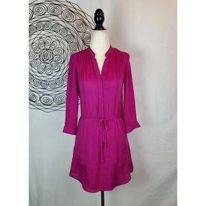 Aritzia BABATON Bennett Silk Shirt Dress